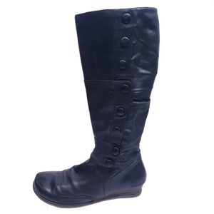 Miz Mooz Paz Black Leather Boots SIze 11
